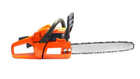 Orange chain saw stock photos