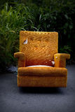 Orange chair Royalty Free Stock Images