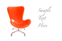 Orange chair Stock Photos