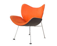 Orange chair isolated on white background Stock Photos
