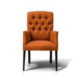 Orange chair. Isolated on white background, front view Royalty Free Stock Photo