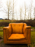 Orange Chair Urban Decay Royalty Free Stock Images