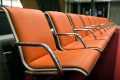 Orange chairs Stock Photo