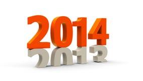 2013-2014 orange Royalty Free Stock Photography