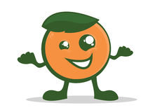 Orange Character Royalty Free Stock Photos