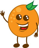 Orange Character Waving Royalty Free Stock Photos