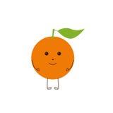 Orange Charakter Lizenzfreie Stockfotos