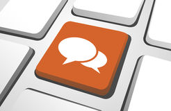 Orange Chat Icon On A Keyboard Button. Stock Images