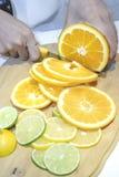 Orange, chaux et citron de tranche Photographie stock libre de droits