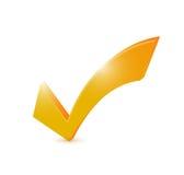 Orange check mark illustration design Stock Images