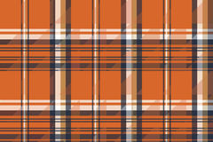 Orange check plaid seamless pattern. Vector illustration stock illustration