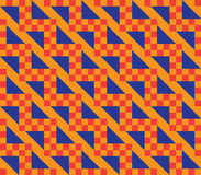 Orange checkered pattern Stock Photo