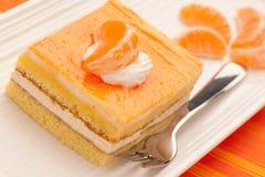 Orange chees cake Stock Images