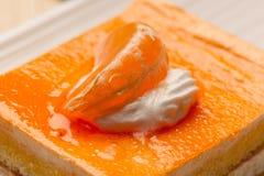 Orange chees cake Royalty Free Stock Photos