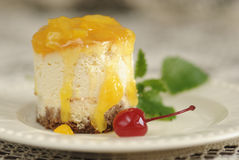 Orange Cheese Cake Royalty Free Stock Photo