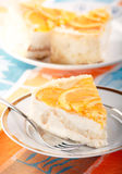 Orange cheesecake Royalty Free Stock Photography