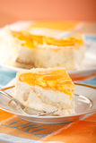 Orange cheesecake Stock Image