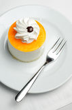 Orange cheesecake Royalty Free Stock Image
