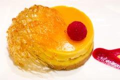 Orange Cheesecake Dessert royalty free stock photos