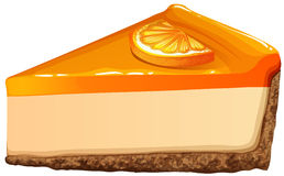 Orange cheesecake with jam Stock Images