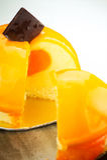 Orange cheesecake Royalty Free Stock Photography