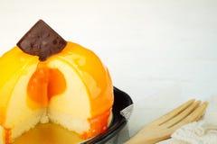 Orange cheesecake Royalty Free Stock Photos