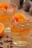 Orange cherry cocktail. Stock Photo