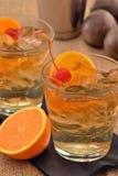 Orange cherry cocktail Royalty Free Stock Photos