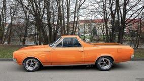Orange Chevrolet El Camino Royalty Free Stock Image