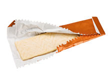 Orange chewing gum stock images