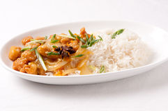 Orange chicken and rice Stock Photography