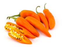 Orange Chili Peppers Stock Photo