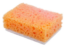Orange China sponge Royalty Free Stock Image