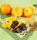 Orange And Chocolate Stock Photography