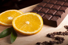 Orange and Chocolate Stock Image