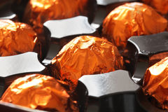 Orange chocolate in box Royalty Free Stock Images