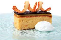 Orange chocolate cake Royalty Free Stock Images