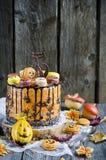 Orange chocolate cake Stock Photos