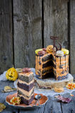 Orange chocolate cake Royalty Free Stock Photography