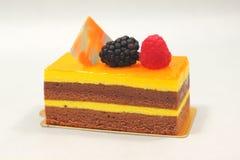 Orange chocolate cake  on white background Royalty Free Stock Photo
