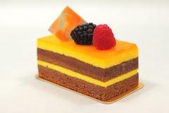 Orange chocolate cake  on white background Stock Image
