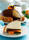 Orange-chocolate cake Stock Photography