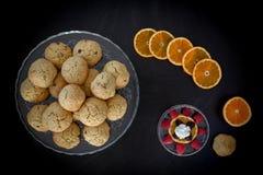 Orange Chocolate Chips Cookies Stock Photography