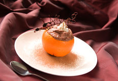 Orange and chocolate dessert Stock Photo