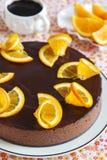 Orange Chocolate Mousse Cake Stock Photography