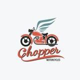 Orange chopper motorcycle logo Stock Photography