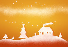 Orange christmas background Stock Image