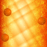 Orange christmas background Royalty Free Stock Image