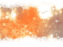 Orange Christmas Background. EPS 10 Stock Image
