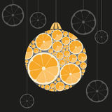 Orange Christmas ball Stock Images